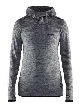 Craft Core seamless hoodie Skipully blauw dames