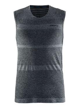 Craft cool comfort mouwloos ondershirt zwart/melange heren
