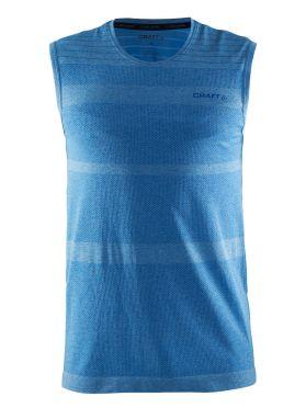 Craft cool confort mouwloos ondershirt blauw heren