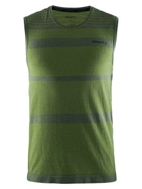 Craft cool comfort mouwloos ondershirt groen heren