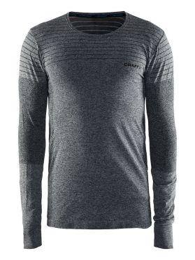Craft cool comfort lange mouw ondershirt zwart/melange heren
