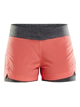 Craft Breakaway 2-in-1 hardloop short roze dames