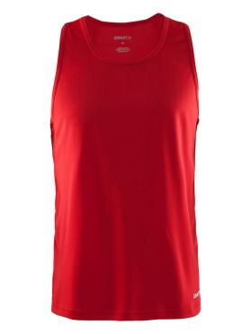 Craft Mind mouwloos hardloopshirt rood heren