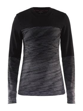 Craft wool comfort 2.0 CN lange mouw ondershirt zwart dames