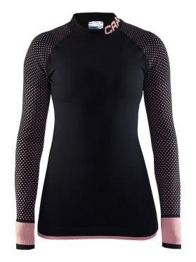 Craft warm intensity CN lange mouw ondershirt zwart/cameo dames