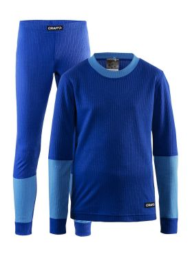 Craft Active onderkleding voordeel set blauw kind/junior