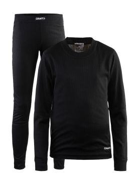 Craft Active onderkleding voordeel set zwart kind/junior