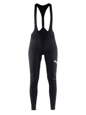 Craft belle glow bib tights fietsbroek zwart dames