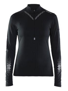 Craft Brilliant 2.0 halfzip Skipully zwart dames
