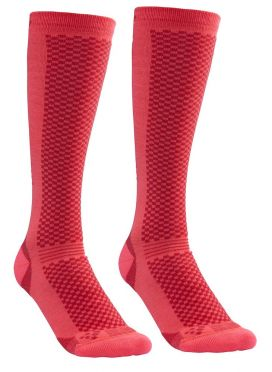 Craft warm hoge sokken roze 2-pack
