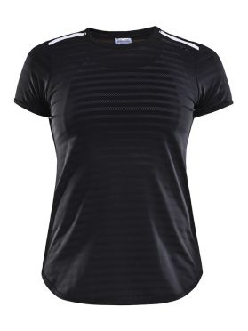 Craft Breakaway korte mouw hardloopshirt zwart dames