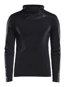Craft Shade lange mouw hoodie hardloopshirt zwart heren
