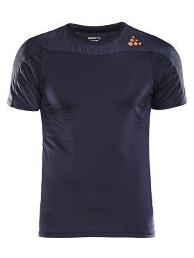 Craft Shade korte mouw hardloopshirt gravel/blauw heren