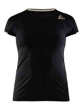 Craft Shade korte mouw hardloopshirt zwart dames