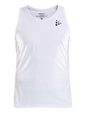 Craft Shade mouwloos hardloopshirt wit heren