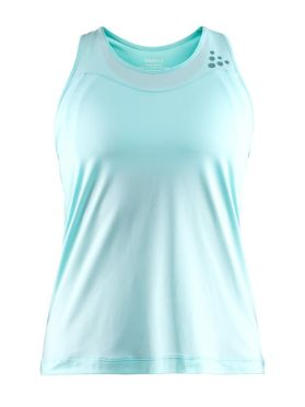 Craft Shade mouwloos hardloopshirt blauw dames