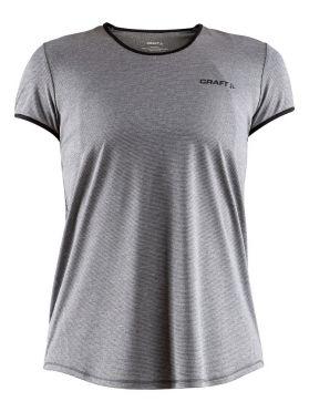 Craft Eaze korte mouw hardloopshirt grijs dames