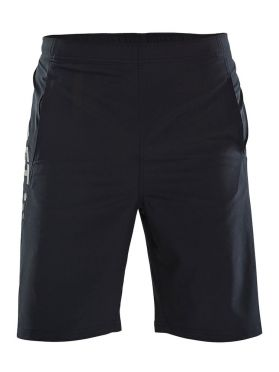 Craft Deft stretch hardloop short zwart heren