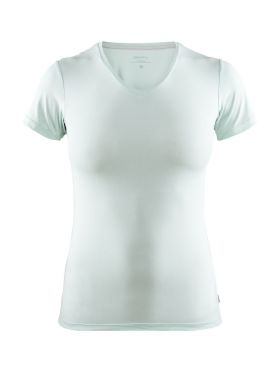 Craft Essential V-neck korte mouw ondershirt groen/plexi dames