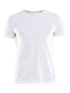 Craft Essential V-neck korte mouw ondershirt wit heren