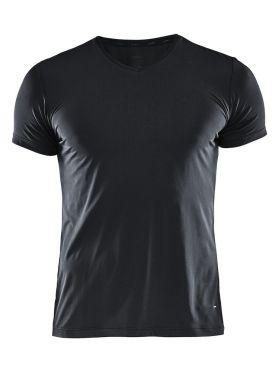 Craft Essential V-neck korte mouw ondershirt zwart heren