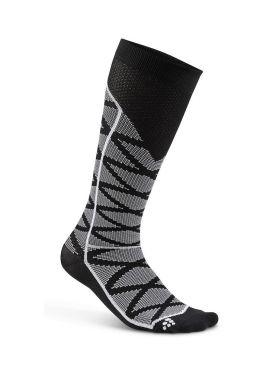 Craft Compressie pattern hardloopsokken zwart unisex