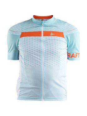 Craft Route fietsshirt korte mouw lichtblauw heren