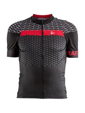 Craft Route fietsshirt korte mouw zwart/rood heren