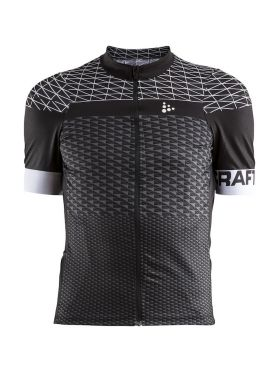 Craft Route fietsshirt korte mouw zwart heren