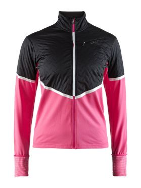 Craft Urban run thermal wind hardloopjack zwart/roze dames