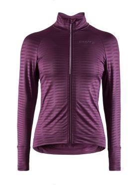 Craft Velo thermal 2.0 fietsshirt lange mouw paars dames