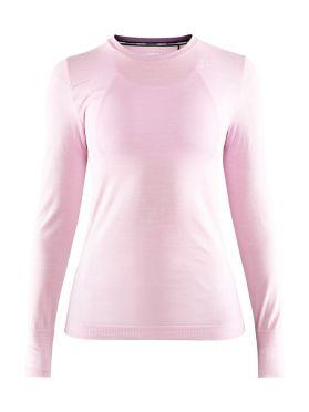 Craft Fuseknit comfort lange mouw ondershirt lichtroze dames