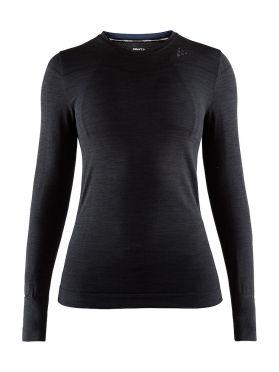Craft Fuseknit comfort lange mouw ondershirt zwart dames