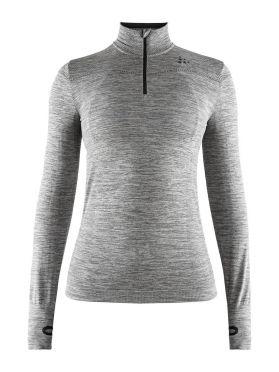 Craft Fuseknit comfort zip lange mouw ondershirt grijs dames