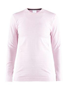 Craft Warm comfort lange mouw ondershirt roze dames