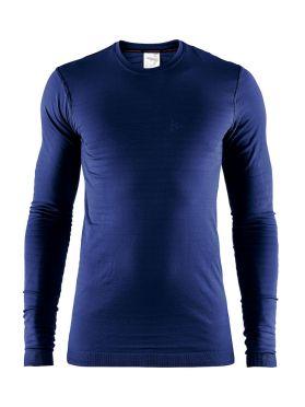 Craft Warm comfort lange mouw ondershirt maritime blauw heren