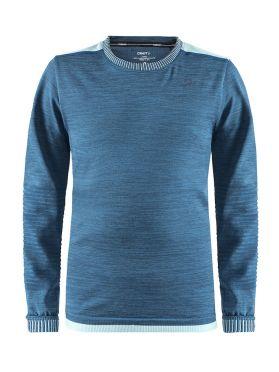 Craft Fuseknit comfort lange mouw ondershirt blauw kind/junior