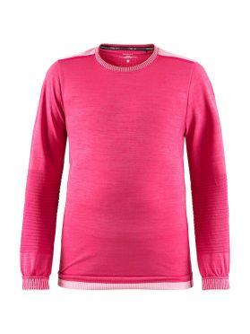 Craft Fuseknit comfort lange mouw ondershirt roze kind/junior