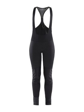 Craft Ideal Pro wind bibtight fietsbroek zwart/intersect dames