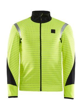 Craft Hale Subzero fietsjacket geel/zwart heren