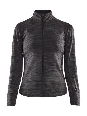 Craft Ideal Thermal fietsshirt lange mouw zwart/grijs dames