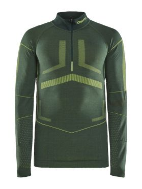 Craft Active Intensity zip lange mouw ondershirt groen heren