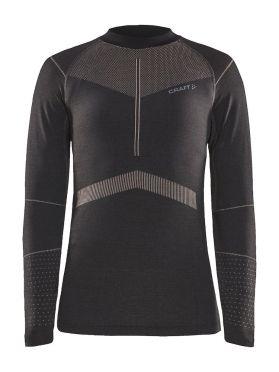 Craft Active Intensity CN lange mouw ondershirt zwart/roze dames
