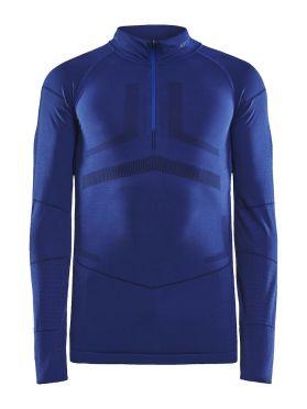 Craft Active Intensity zip lange mouw ondershirt blauw dames