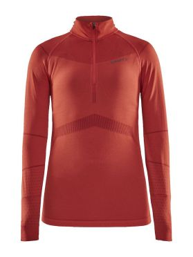Craft Active Intensity zip lange mouw ondershirt rood dames