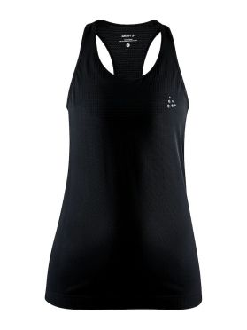 Craft Fuseknit light mouwloos ondershirt zwart dames