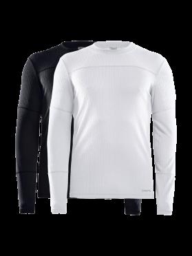 Craft Core Dry ondershirt 2-pack lange mouw zwart/wit heren