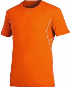Craft Stay cool mesh ondershirt korte mouw oranje heren