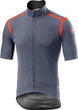 Castelli Gabba RoS korte mouw fietsshirt dark steel blauw heren