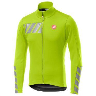 Castelli Raddoppia 2 jacket geel fluo heren